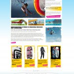 E-commerce site for a kitesurfing school
