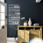 In this house Wall Sticker for families
