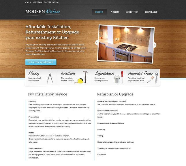 Modern Kitchens GUI