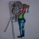 My art..Painting her love