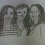 My art..Sylvie, Alex and Pam