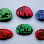 Painted Pebbles: Fridge Magnets