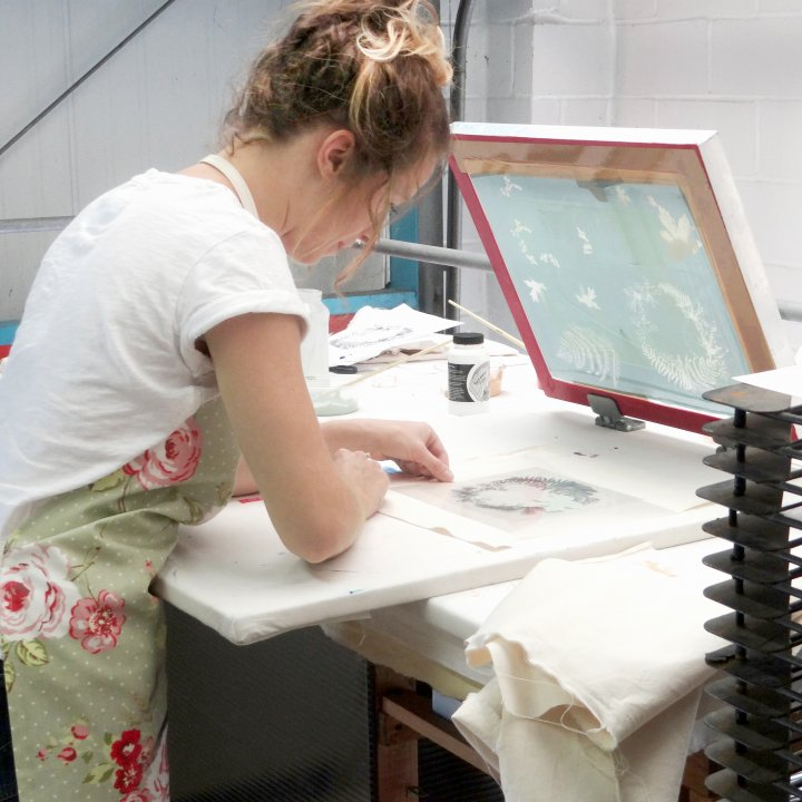 Pippa Tucker Printing in the Studio