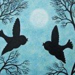 Romantic Birds Silhouettes
