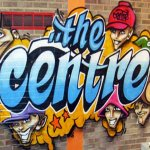 Graffiti fun during Lindfield Arts Festival on 17 Sep