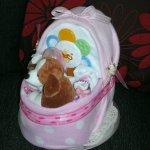 Baby Nappy Crib / Baby Shower Nappy Cakes